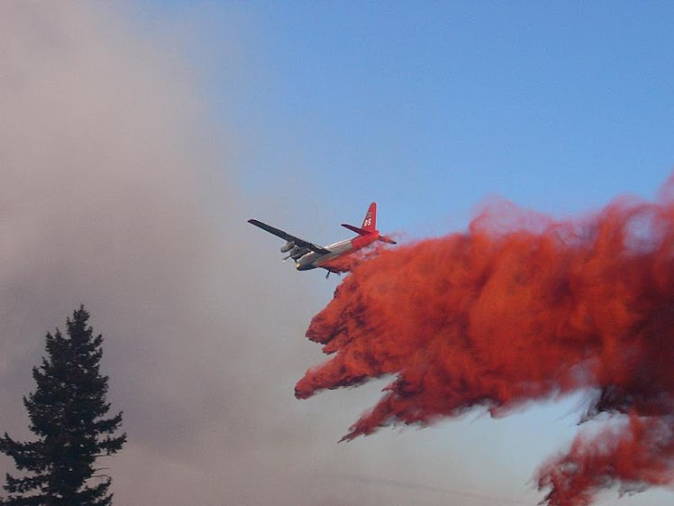 Neptune Aviation P2V Neptune drops phos-chek on the 2007 WSA Complex Fire