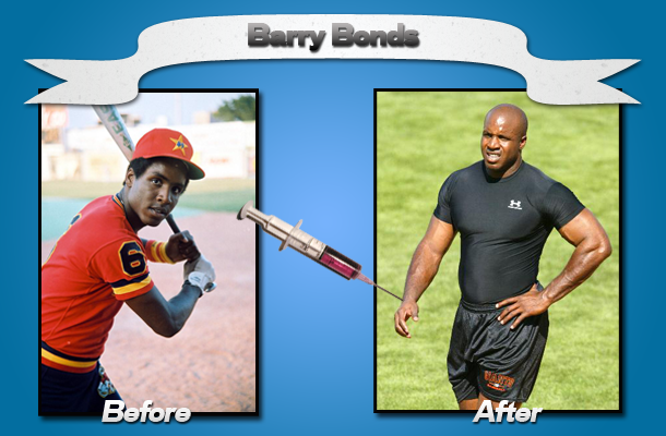 barry bonds head before and after. MLB player Barry Bonds is