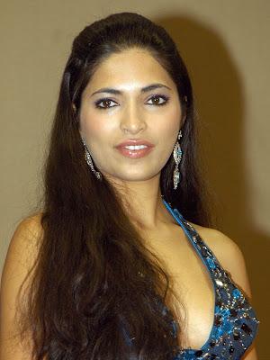 Parvathi Omanakuttan in a Party Wear Blue Dress, Femme Fatale