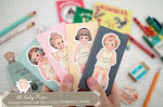 (Ready Stock) Best Selling : Vintage Paper Dolls Sticky Pads