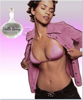 Halle Berry anunciando perfume