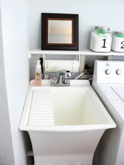 Small Laundry Room Sink : Remodelaholic Laundry Room Design With Craft Room All In One: Guest ...