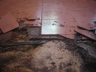 Shower Installation Contractor How To Remove The Old Tile Flooring