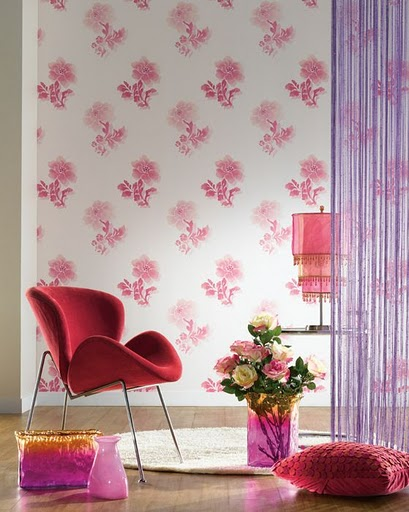 combination white pink mauve - Designer Walls