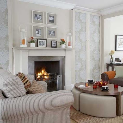 Living room : 6 beautiful designs with fireplace.