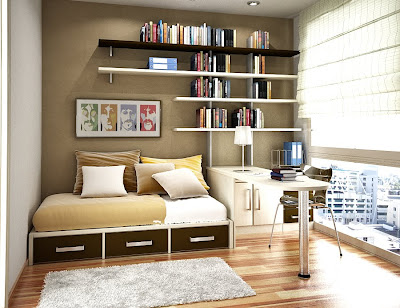 Smart Use Of Space, With All The Furnishings On One Side Of The Room