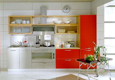 Modern kitchen designs in red - Kitchen design in small space decoration ...
