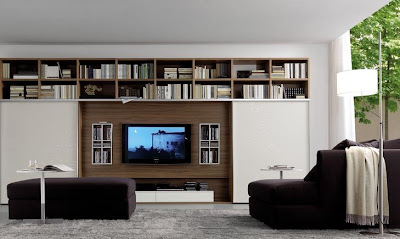 ... And Great Way To Design Your Living Room Centered Around The TV. In  These Designs It Is Presented As A Piece Of Art And I Love The Uber Stylish  Look.