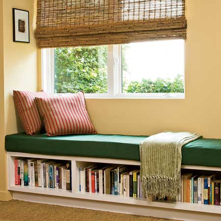 Living room reading corner designsinterior decorating Window seat reading nook