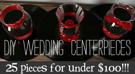 to make the centerpieces for the big day their colors are red n 39 black
