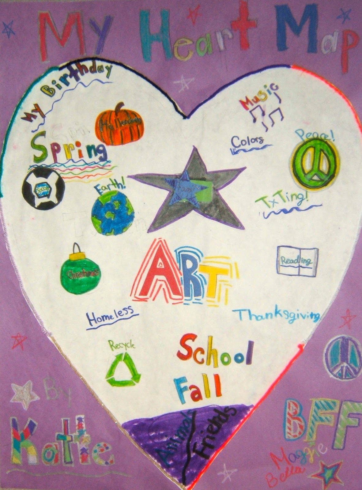 RIVERSIDE ELEMENTARY ART Heart Maps