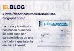 """Caricatura Existencialista recomendada por el diario """"El Comercio"""""""