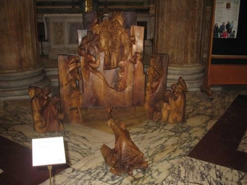 Výstava betlému Jiřího Netíka v Pantheonu v Římě