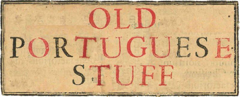 old portuguese stuff