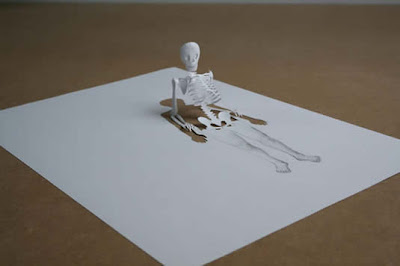 image Peter Callesen squelette papier