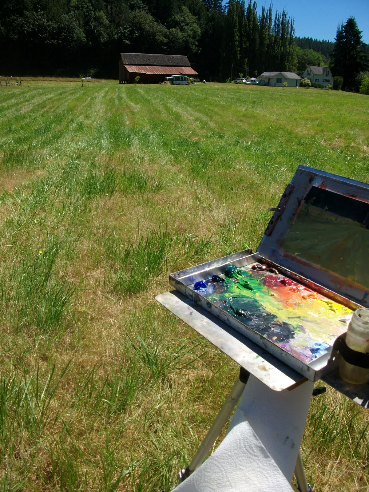 In Plein Air QuotLiving Water Farmquot Jim Lamb Workshopplein Air