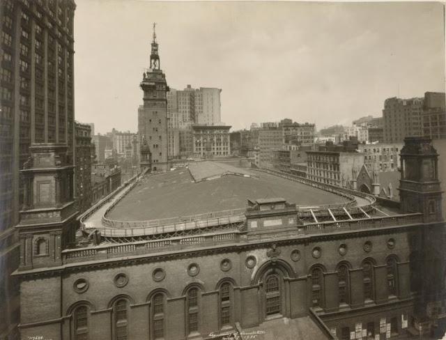 New York History Geschichte Madison Square Garden Ii Beginning The Demolition 1925
