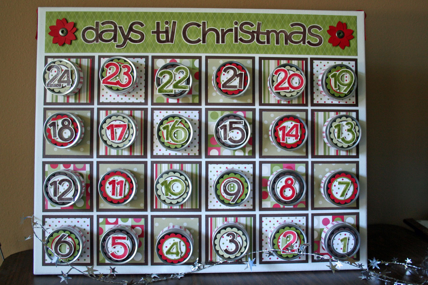 Advent calendars all things beautiful for Make your own christmas countdown calendar