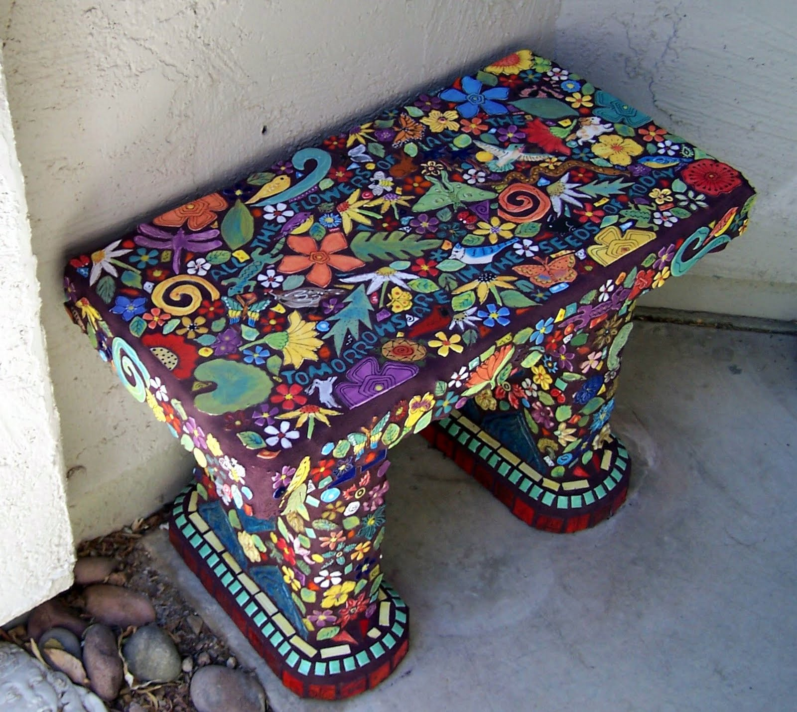 Benches Covers Mosaics Benches Tile Studios Auction