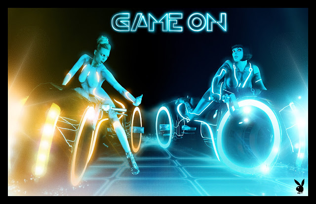 Playboy Sexy Tribute Neon-lit Tron Revival Pics Video Photos