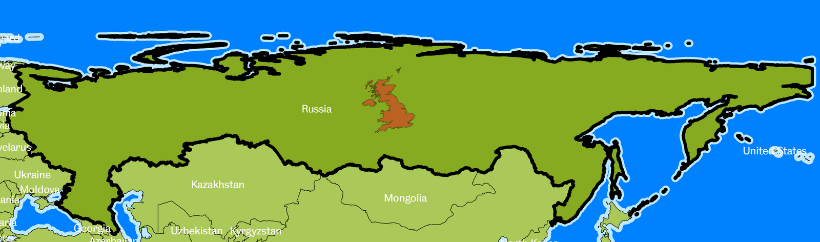 Russia Information And Facts Map