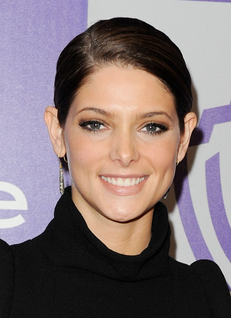 Ashley Greene in High Neck Black Mini Dress at 2010 Golden Globe After Party