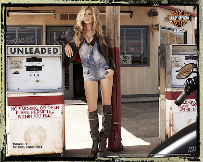 Marisa Miller in sexy rider photoshoot for Harley Davidson 2010 <br />Campaign