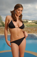 Lucy Pinder in lovely bikini photoshoot by Tim Merry