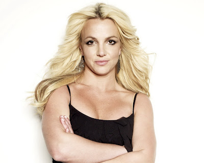 Britney Spears in Sexy Black Tank Mini Dress Fashion Model Photo Shoot Session