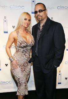 Nicole Coco Austin in Beautiful Snake Print Tank Dress Fashion Style at Sean Diddy Combs Private Birthday Party Event