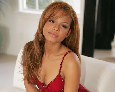 Christina Milian in Gorgeous Red Backless Gown Fashion Model Photo Shoot Session