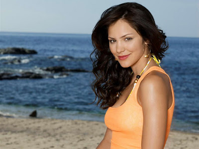 Katharine McPhee in Casual Summer Beach Fashion Model Photo Shoot Session