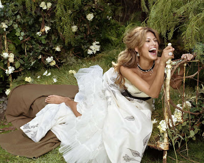 Eva Mendes in Beautiful Romantic Garden Photo Shoot Session