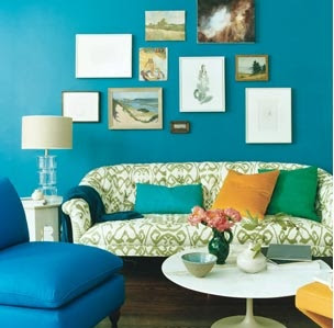 Our Own Home: Turquoise Living Room