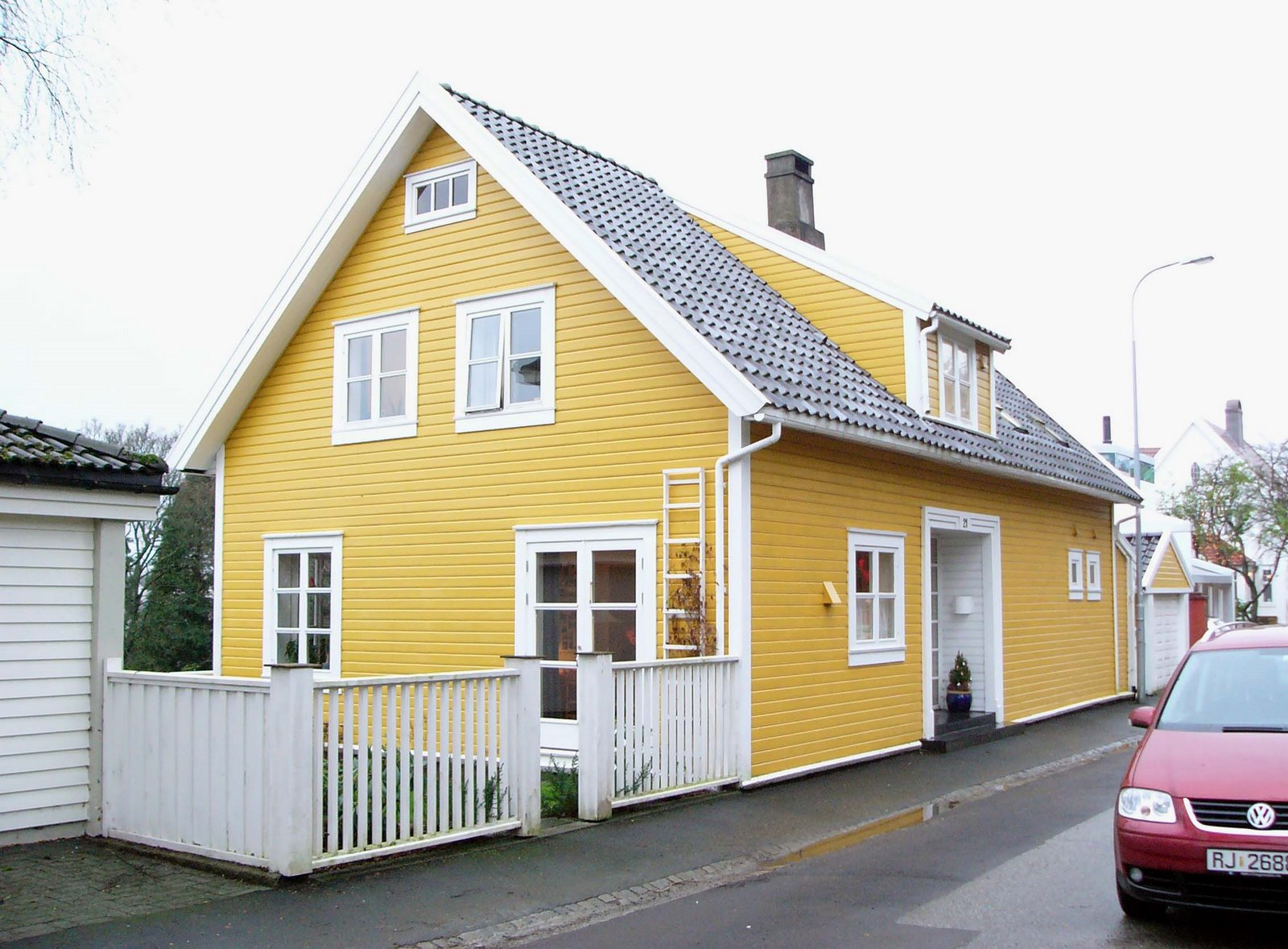 Yellow House Exterior