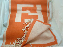 FENDI VINTAGE Reversible Woolen Logo Scarf