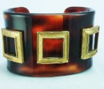Chanel style lucite tortoise cuff