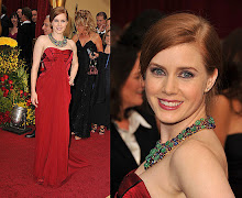 Amy Adams in her vintage inspired statement necklace