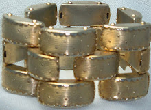 Golden Layered Brick Bracelet