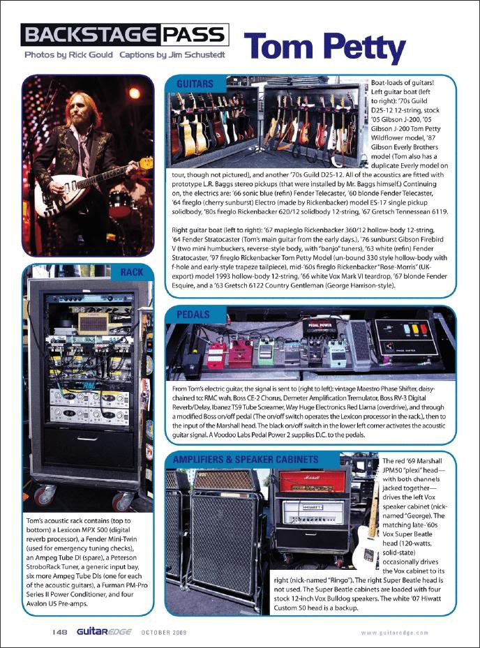 Tom Petty gear