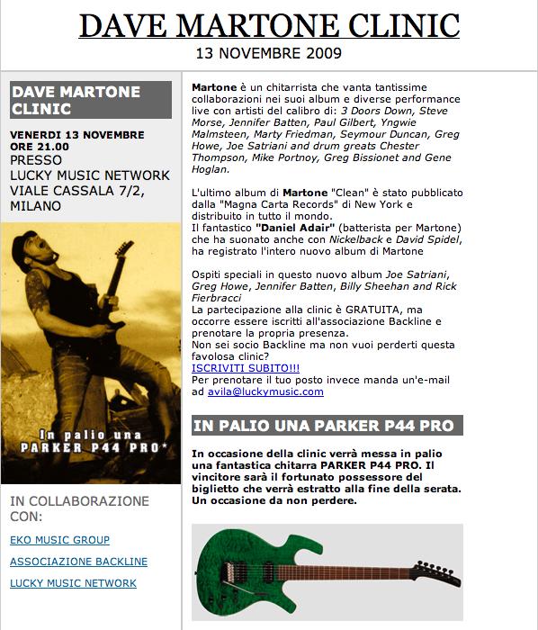 Dave Martone Clinic