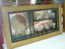 set cawan marble + frame kotak  008