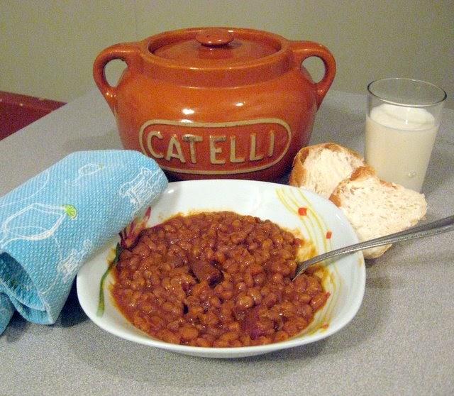 La cuisine de nathalie f ve au lard de sukie - Cuisiner des feves seches ...
