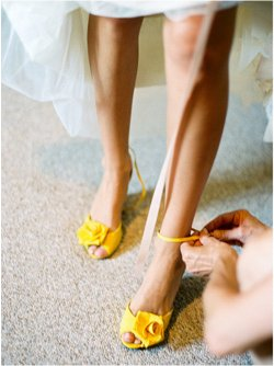 [yellow+wedding+shoes]
