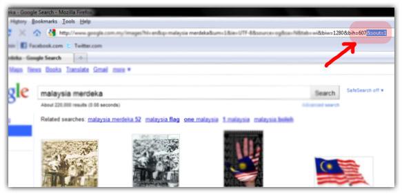 Tukar Style Google Images Baru Kepada Lama