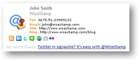 WiseStamp Email Signature