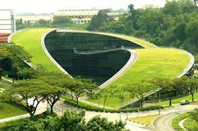 Sekolah Seni Atap Hijau di Singapura