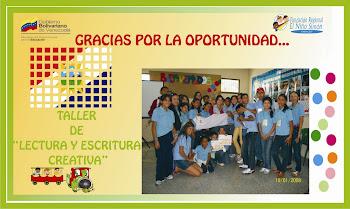 Saludos a mis alumnos del Taller de Fundación Regional Niño Simón