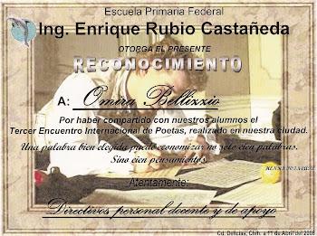 Saludos a los alumnos de la Escuela Enrique Rubio, Delicias, Chihuahua, México