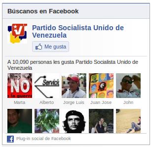 PSUV en Facebook